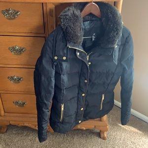 Jacket with fake fur